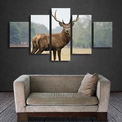 Elk Multi Canvas Print Wall Art