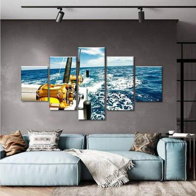 Fishing Time Multi Canvas Print Wall Art