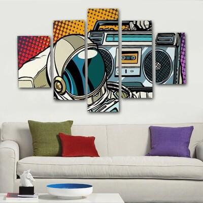 Astronote Multi Canvas Print Wall Art