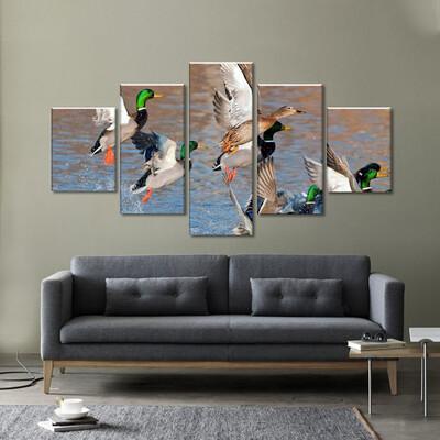 Fowl Multi Canvas Print Wall Art