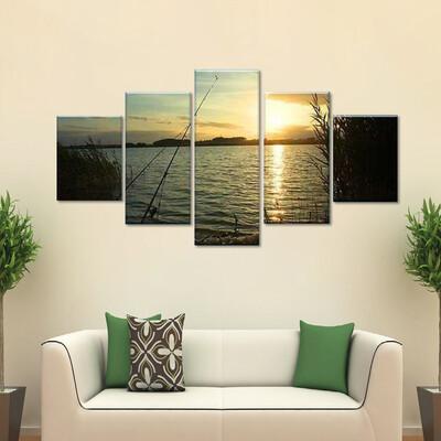 Lakeshore Multi Canvas Print Wall Art