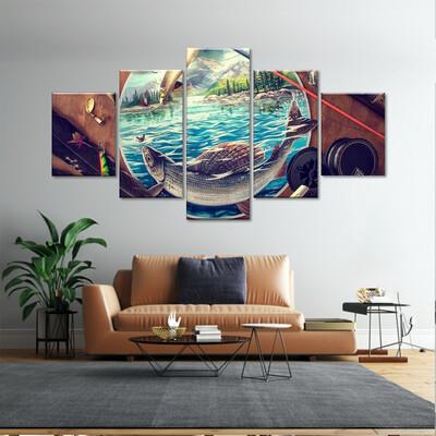 Lure Multi Canvas Print Wall Art