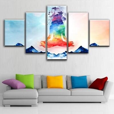 Blissful Multi Canvas Print Wall Art