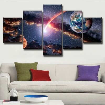 Mars Multi Canvas Print Wall Art