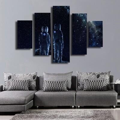 Moonview Multi Canvas Print Wall Art
