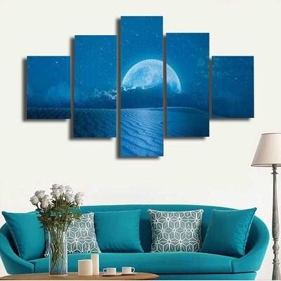Moonscape Multi Canvas Print Wall Art