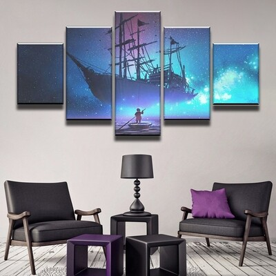 Dreamship Multi Canvas Print Wall Art