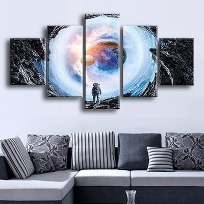 To Earth Multi Canvas Print Wall Art