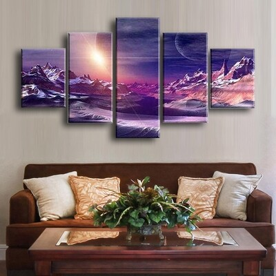 Ultraviolet Multi Canvas Print Wall Art