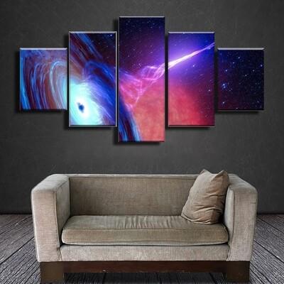 Quasar Multi Canvas Print Wall Art