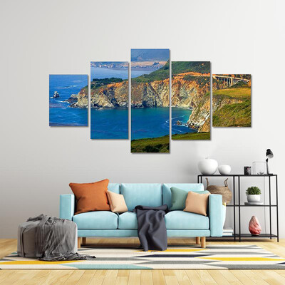Big Sur California Coast Multi Canvas Print Wall Art