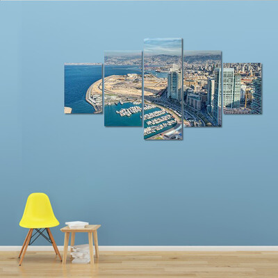 City Of Beirut In Lebanon Multi Canvas Print Wall Art