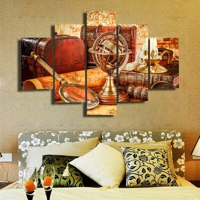 Nautica Multi Canvas Print Wall Art
