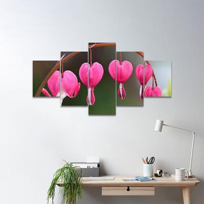 Bleeding Heart Flowers Multi Canvas Print Wall Art