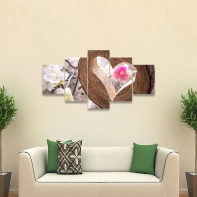 Heart On Rustic Wood Multi Canvas Wall Art