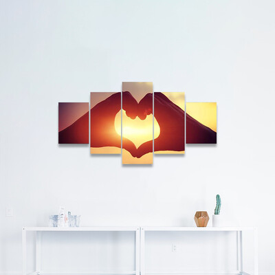 Heart Shape Making Of Hands Multi Canvas Wall Art