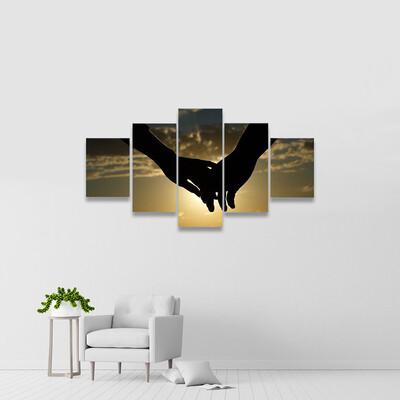 Magic Moments Of Loving Hearts Multi Canvas Wall Art
