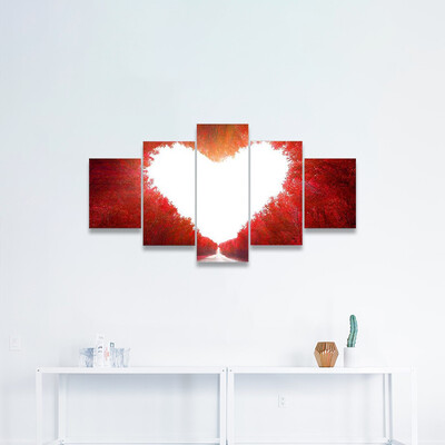 Road To Love Multi Canvas Wall Art