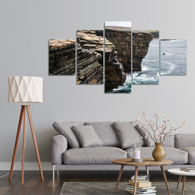 Orkney Coastline Yesnaby Cliff Multi Canvas Print Wall Art