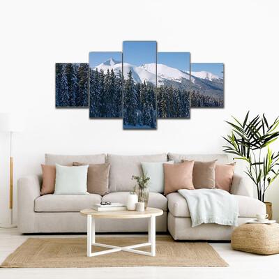 Bansko Ski Resort Bulgaria Multi Canvas Print Wall Art