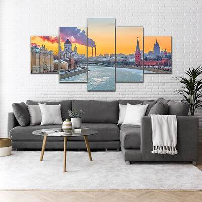 Beautiful Winter In Moscow Multi Canvas Print Wall Art