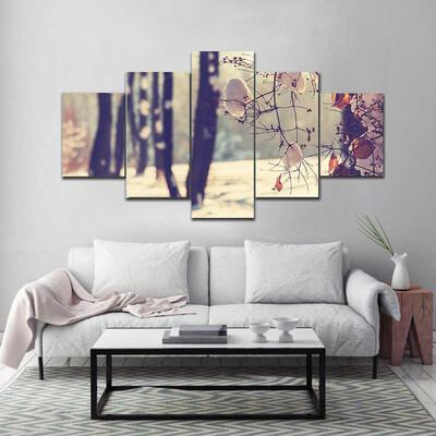 Beautiful Winter Scene Moscow Multi Canvas Print Wall Art