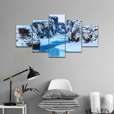 Canyon And Fjadra River Multi Canvas Print Wall Art