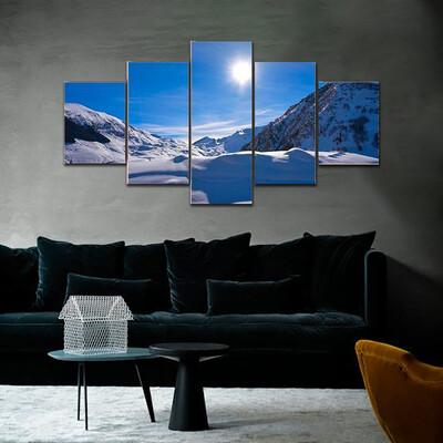 Cerler Ampriu Mountain In Spain Multi Canvas Print Wall Art