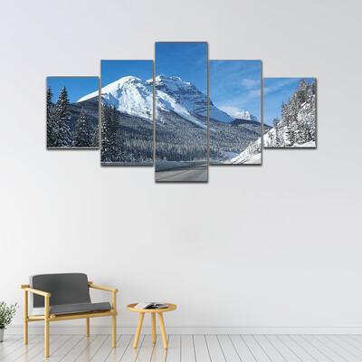 Empty Open Road Multi Canvas Print Wall Art