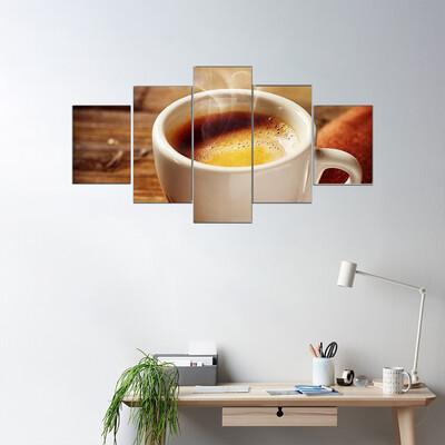 Espresso Cup Multi Canvas Wall Art