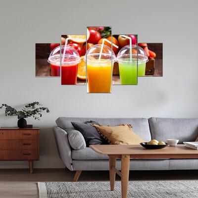 Fresh Juices Multi Canvas Wall Art