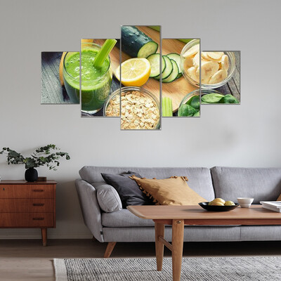 Healthy Smoothie Multi Canvas Wall Art