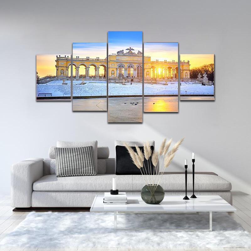 Gloriette In Schonbrunn Palace Multi Canvas Print Wall Art