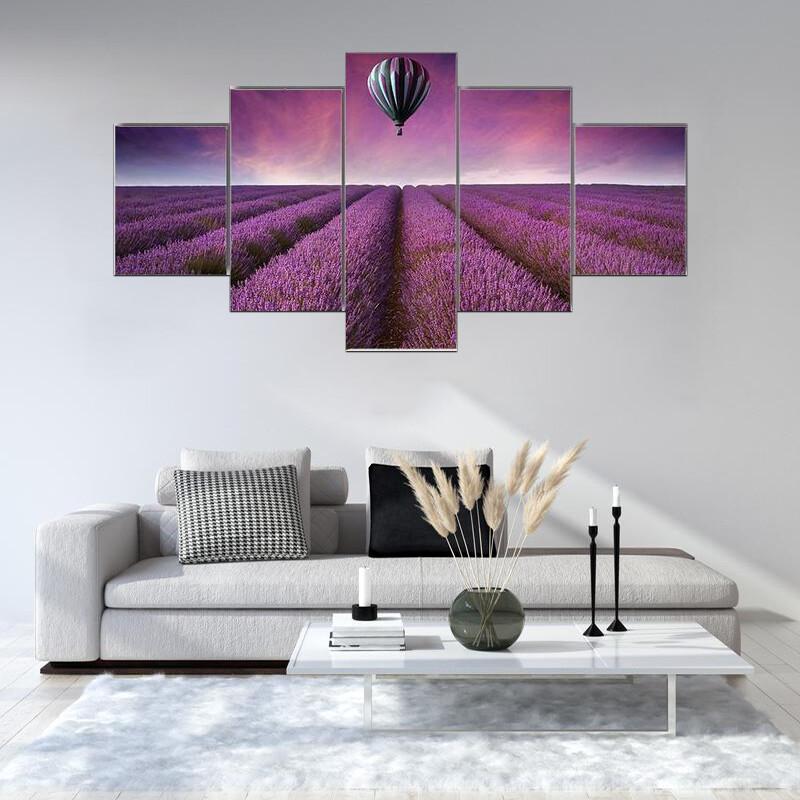 Summer Sunset Landscape Multi Canvas Print Wall Art
