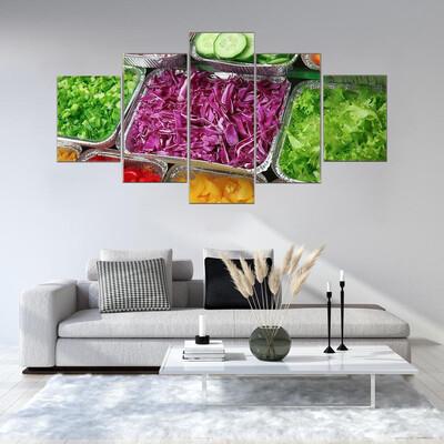 Salad Bar Multi Canvas Wall Art