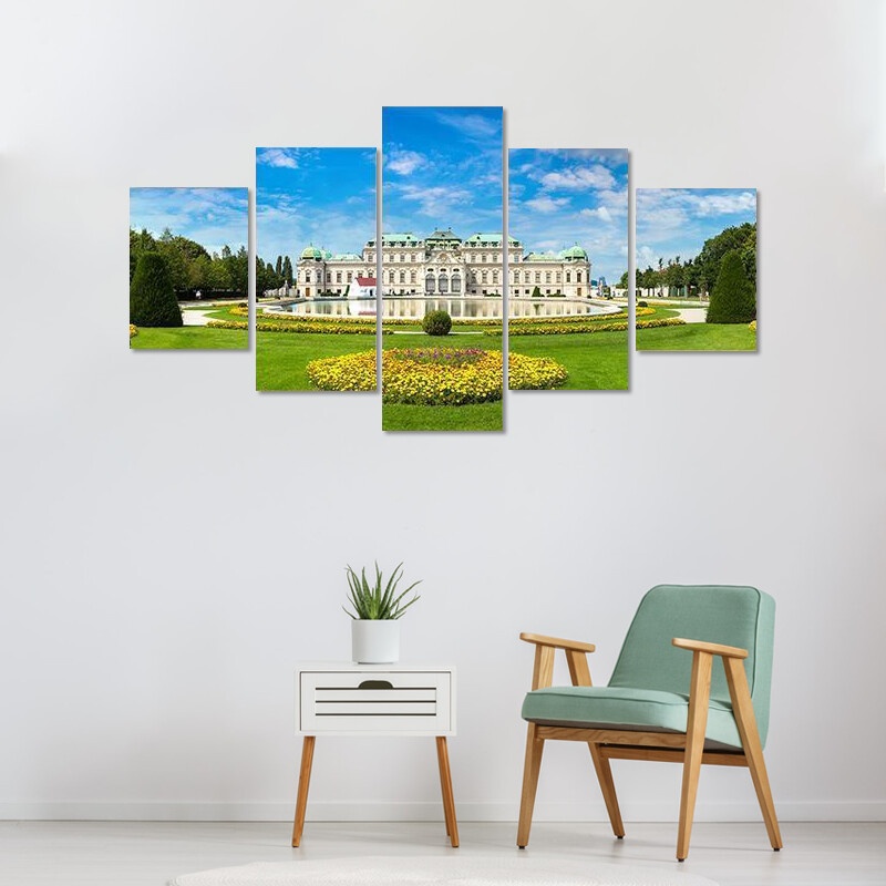 Belvedere Museum In Vienna Multi Canvas Print Wall Art