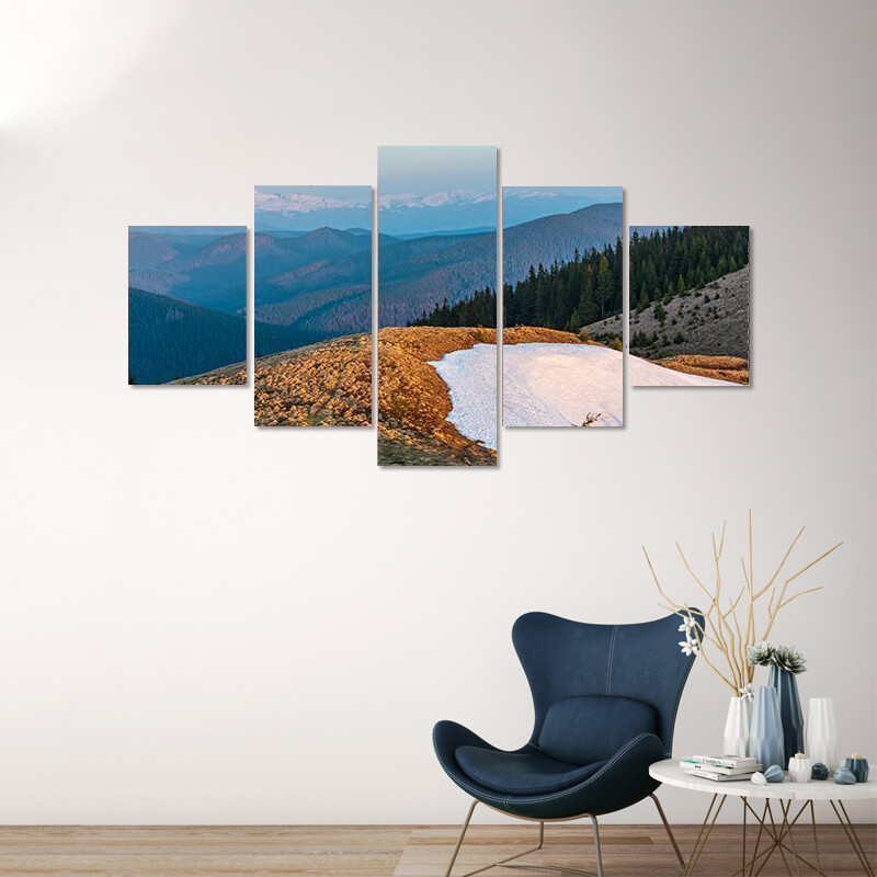 Carpathian Mountains Multi Canvas Print Wall Art