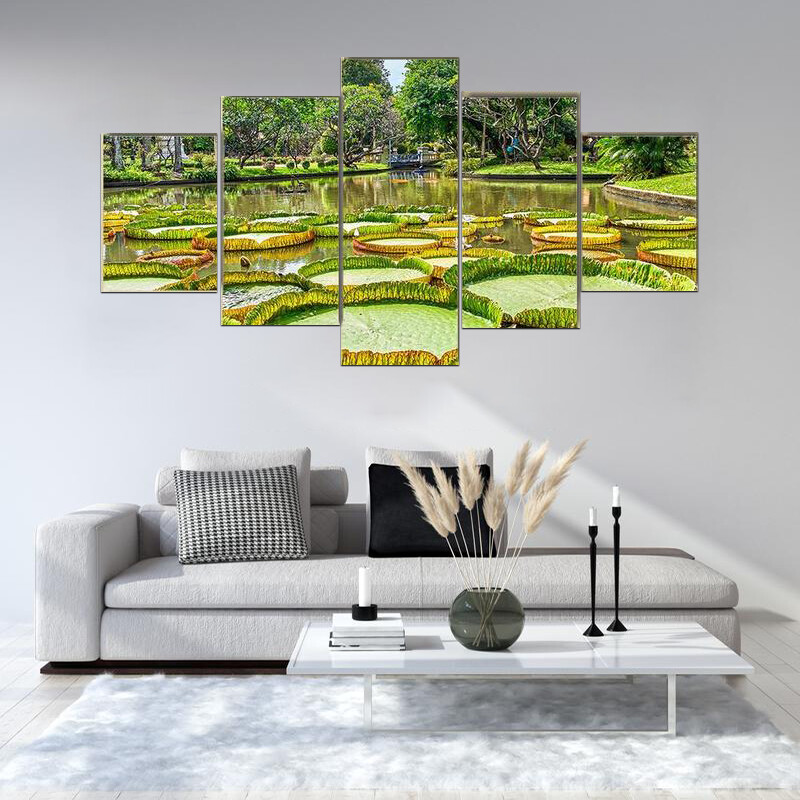 Victoria Amazonica Giant Water Lilies Multi Canvas Print Wall Art