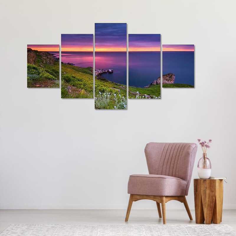 Dramatic Sky Seascape Multi Canvas Print Wall Art