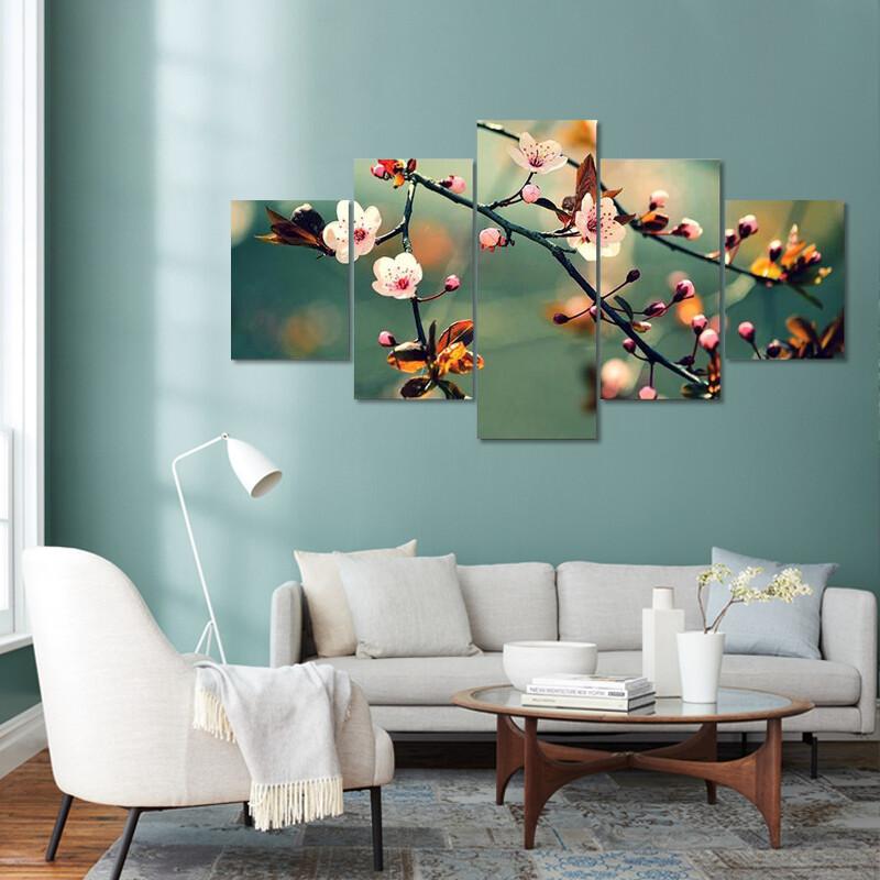 Flowering Japanese Cherry Sakura Multi Canvas Print Wall Art