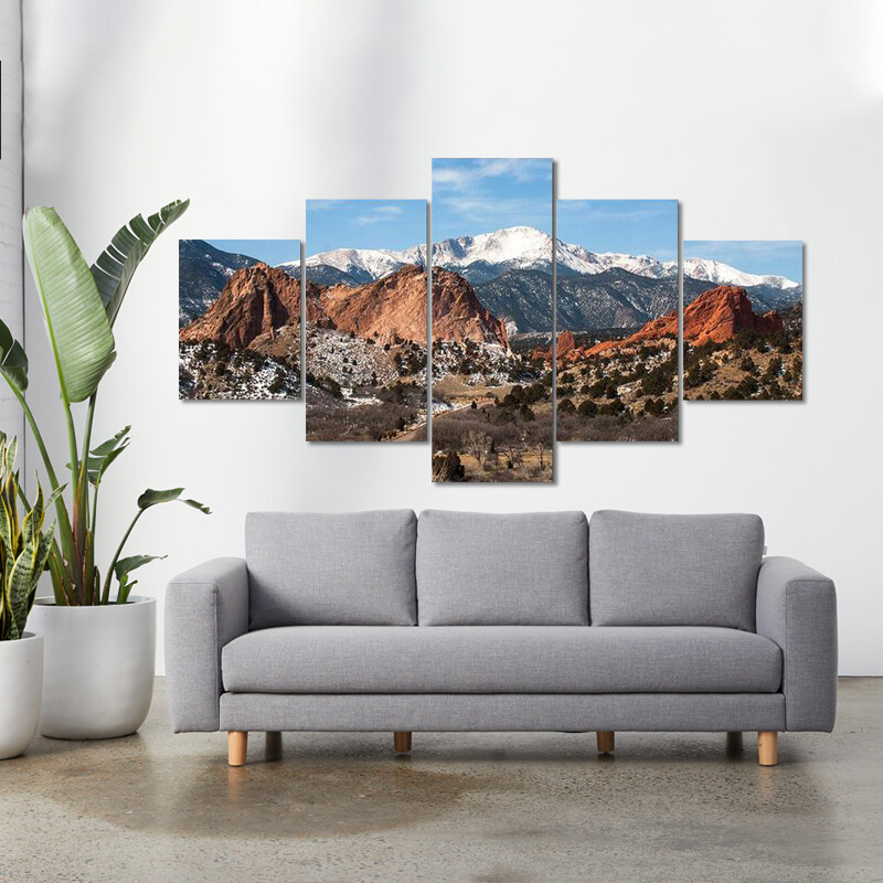 Garden Of  Gods Park Multi Canvas Print Wall Art
