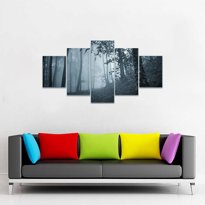 Deep Jungle Horror Place Multi Canvas Print Wall Art