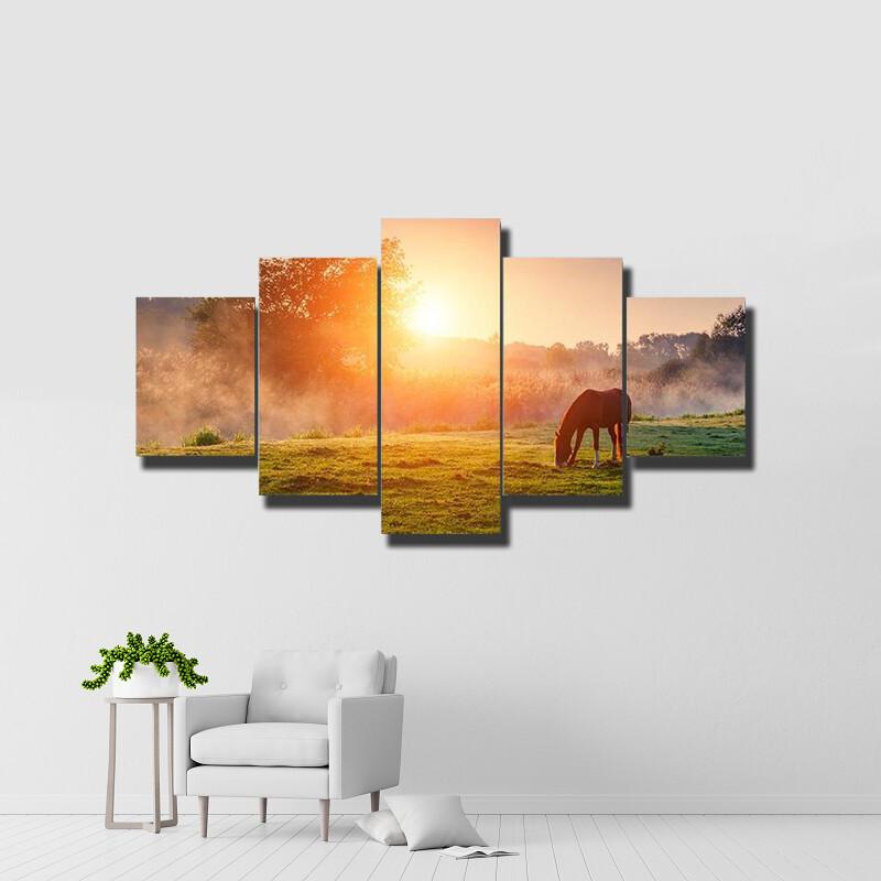 Arabian Horse Multi Canvas Print Wall Art