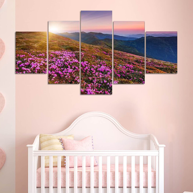 Magic Pink Rhododendron Multi Canvas Print Wall Art