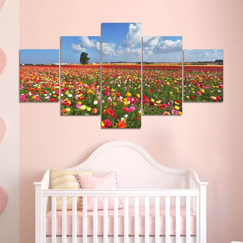 Magnificent Garden Buttercups Multi Canvas Print Wall Art