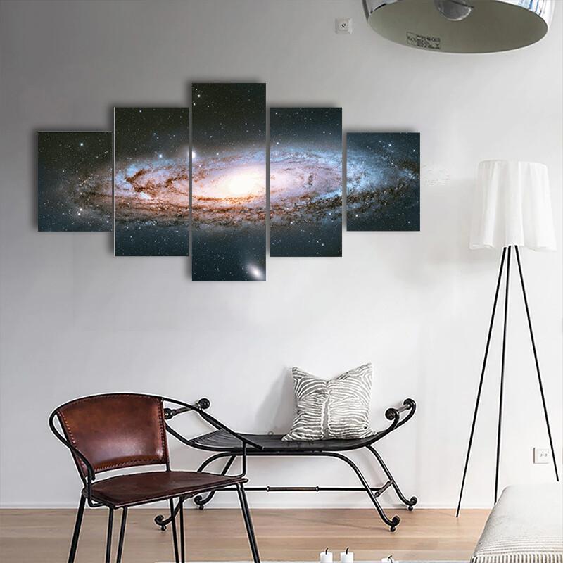 Andromeda Galaxy Multi Canvas Print Wall Art