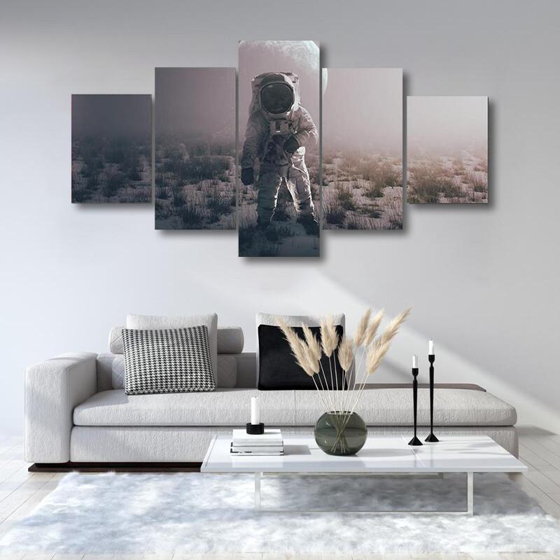 Astronaut In Alien World Multi Canvas Print Wall Art