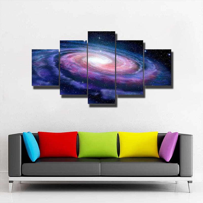 Milky Way Galaxy Multi Canvas Print Wall Art