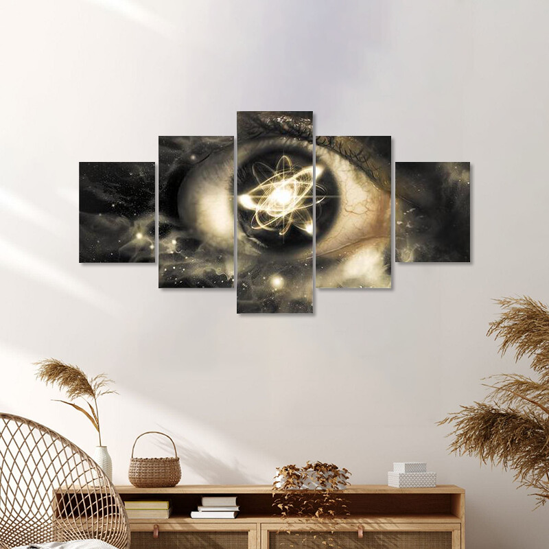 Atomic Particle Multi Canvas Print Wall Art
