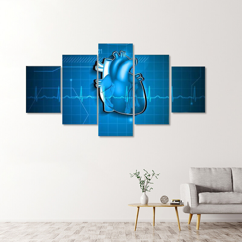 Abstract Of Cardiology Multi Canvas Print Wall Art